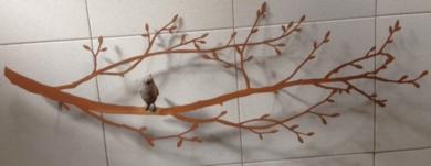 Ramita con pájaro en el centro|EsculturadeCharlotte Adde| Compra arte en Flecha.es