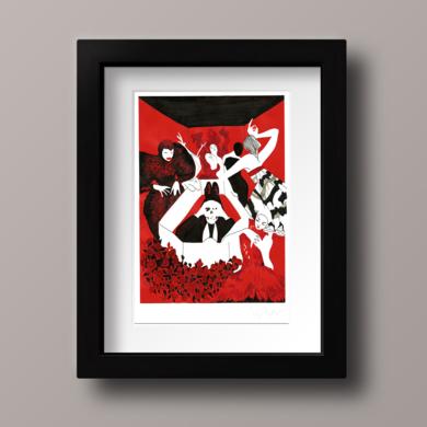 Alexander McQueen|CollagedeIgnacio Lobera| Compra arte en Flecha.es