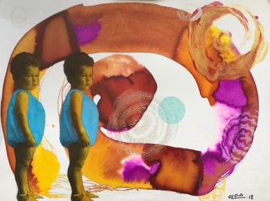 Dos bebés|CollagedeOlga Moreno Maza| Compra arte en Flecha.es