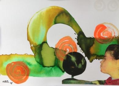 La bola del mundo|CollagedeOlga Moreno Maza| Compra arte en Flecha.es
