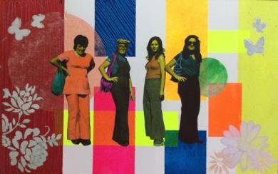 Los 70|CollagedeOlga Moreno Maza| Compra arte en Flecha.es
