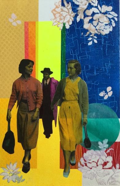 Callejeando|CollagedeOlga Moreno Maza| Compra arte en Flecha.es