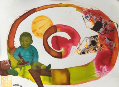 No había más juguetes|CollagedeOlga Moreno Maza| Compra arte en Flecha.es