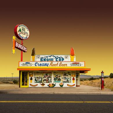 Lone building  06_Route 66, Arizona, USA|DigitaldeAndy Sotiriou| Compra arte en Flecha.es