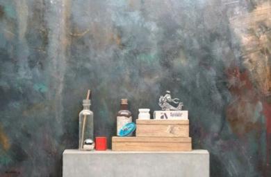 Rueda azul|PinturadeLUIS    GOMEZ    MACPHERSON| Compra arte en Flecha.es