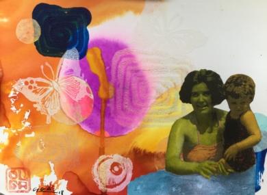 Primer verano|CollagedeOlga Moreno Maza| Compra arte en Flecha.es