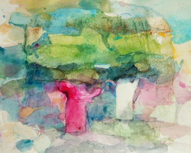 Árboles en el bosque|PinturadeÁlvaro Marzán| Compra arte en Flecha.es