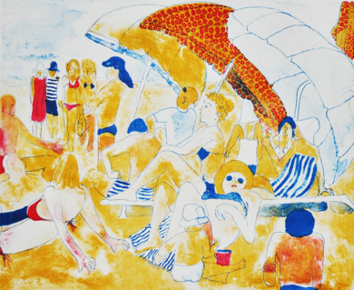 Cala Tarida|Obra gráficadeJenifer Carey| Compra arte en Flecha.es