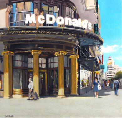 Mc Donalds|PinturadeSaid Rajabi| Compra arte en Flecha.es