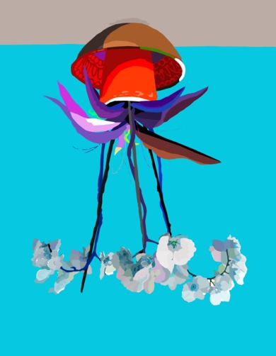 Medusozoa Orchidae|DibujodeALEJOS| Compra arte en Flecha.es