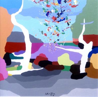 Partículas (Rompiendo nuestras banderas)|PinturadeALEJOS| Compra arte en Flecha.es