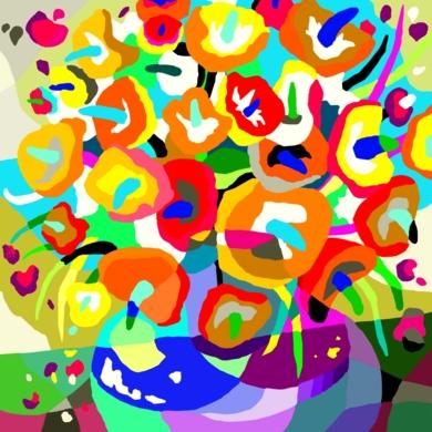 Jarrón de flores|DigitaldeALEJOS| Compra arte en Flecha.es