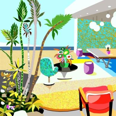 Casa con vistas|DigitaldeALEJOS| Compra arte en Flecha.es