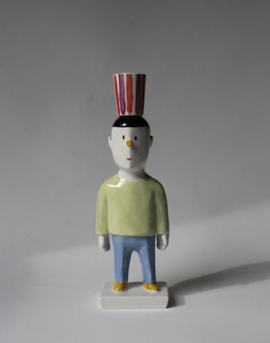 Pyrrho portavelas ( iluminado)|EsculturadeManuel Sánchez-Algora| Compra arte en Flecha.es