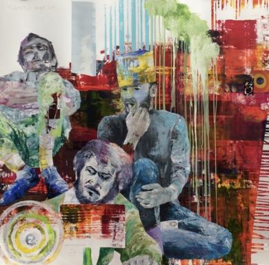 CINE 2001|PinturadeJAVIER MACHIMBARRENA| Compra arte en Flecha.es