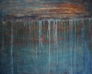 Frozen warm sunset|PinturadeLucia Garcia Corrales| Compra arte en Flecha.es