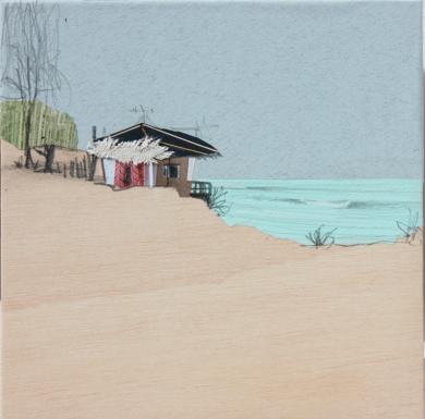 Playa de agua clara|DibujodeEduardo Query| Compra arte en Flecha.es