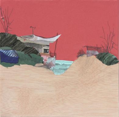 Rojo crepusculo|CollagedeEduardo Query| Compra arte en Flecha.es