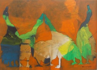 Gansos|PinturadeFrancisco Santos| Compra arte en Flecha.es