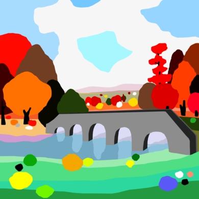 Puente al Paraiso|DibujodeALEJOS| Compra arte en Flecha.es