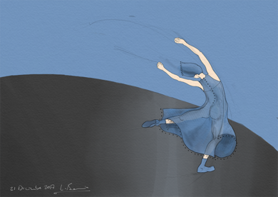 Mujer baila II|Obra gráficadeLola Barcia Albacar| Compra arte en Flecha.es