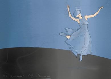 Mujer baila III|Obra gráficadeLola Barcia Albacar| Compra arte en Flecha.es