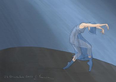 Mujer baila IV|Obra gráficadeLola Barcia Albacar| Compra arte en Flecha.es