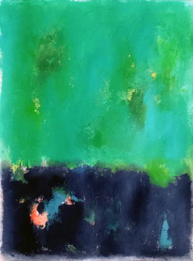 Green and black|PinturadeLuis Medina| Compra arte en Flecha.es
