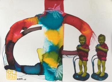 Manolito|CollagedeOlga Moreno Maza| Compra arte en Flecha.es