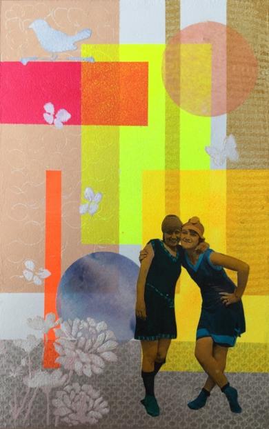 Bañistas|CollagedeOlga Moreno Maza| Compra arte en Flecha.es