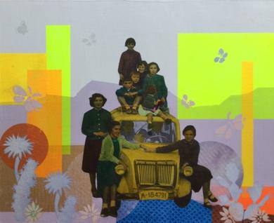 Primer automóvil|CollagedeOlga Moreno Maza| Compra arte en Flecha.es