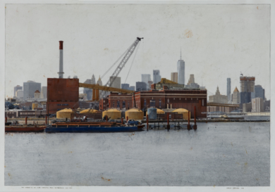 The Vinegar Hill And Lower Manhattan From Brooklyn Navy Yard 60x86|FotografíadeCarlos Arriaga| Compra arte en Flecha.es