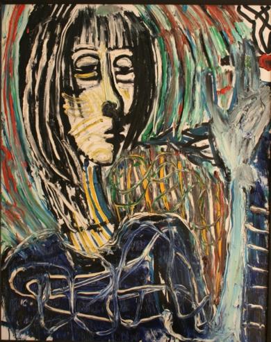 mujer fumando|PinturadeEkhi Huarte| Compra arte en Flecha.es