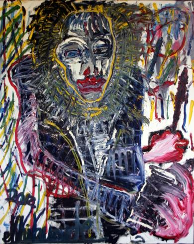 Genio creador. chaman en estado de trance.|PinturadeEkhi Huarte| Compra arte en Flecha.es