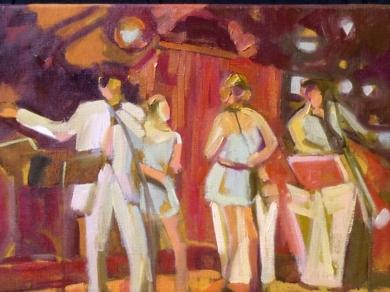 Dancing in red|PinturadeJosé Bautista| Compra arte en Flecha.es