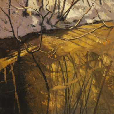 Riachuelo dorado|PinturadeOrrite| Compra arte en Flecha.es