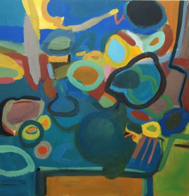 MERIENDA AZUL|PinturadeSINO| Compra arte en Flecha.es