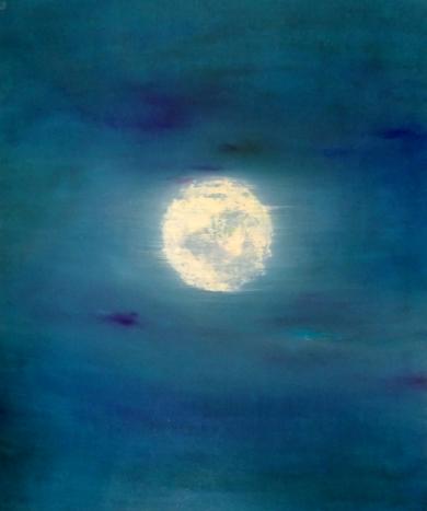 """Lunar Sea"" Paso 1|PinturadeEsther Porta| Compra arte en Flecha.es"