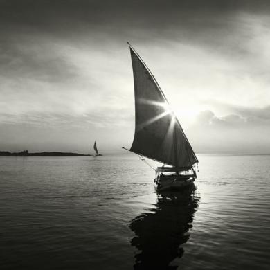 Water series 11  :  Feluccas, Nile, Egypt|FotografíadeAndy Sotiriou| Compra arte en Flecha.es