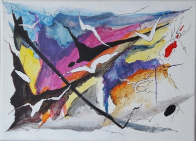Afagietto - Gustav Mahler|PinturadeValeriano Cortázar| Compra arte en Flecha.es