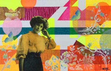 Margarita|CollagedeOlga Moreno Maza| Compra arte en Flecha.es