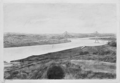 El Puente|DibujodeIgnacio Mateos| Compra arte en Flecha.es