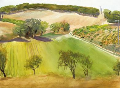 Viñas y pinos|PinturadeIgnacio Mateos| Compra arte en Flecha.es