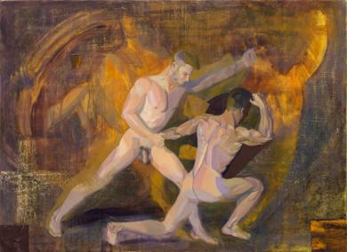El cuadrado de Malevich infunde pesadillas al joven  artista|PinturadeIgnacio Mateos| Compra arte en Flecha.es