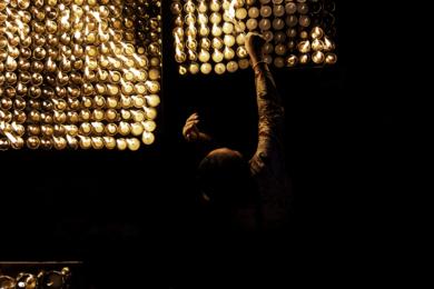 Full Moon at Boudhanath|DigitaldeJavier Clemente| Compra arte en Flecha.es