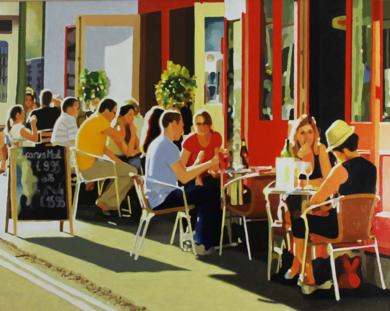 Terraza al sol|PinturadeJose Belloso| Compra arte en Flecha.es