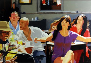 Terraza con salsa|PinturadeJose Belloso| Compra arte en Flecha.es