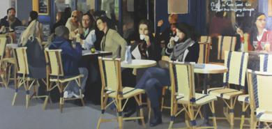 Terraza en otoño|PinturadeJose Belloso| Compra arte en Flecha.es