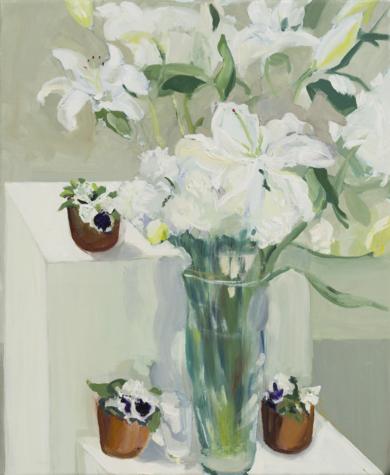 Blanco y violeta|PinturadeIgnacio Mateos| Compra arte en Flecha.es