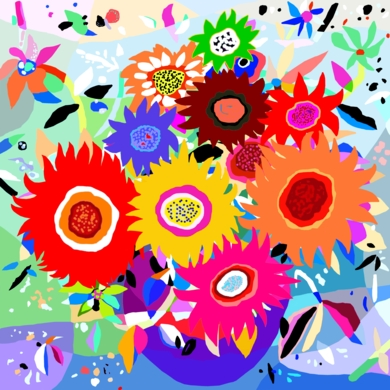 Girasoles|DibujodeALEJOS| Compra arte en Flecha.es
